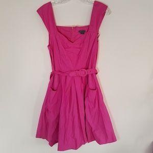 Armani exchange hot pink dress